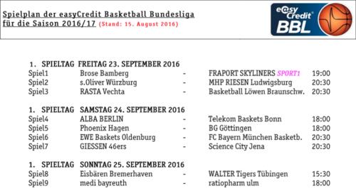 Rasta Vechta Der Geilste Club Der Welt Spielplan 20162017